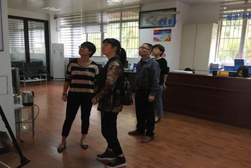 永安劳动就业中心人员到三路社区参观学习